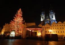 Praga a natale Immagini Stock Libere da Diritti