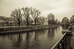 Praga nel colore di seppia Fotografie Stock