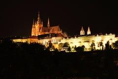 Praga nella notte Fotografia Stock Libera da Diritti