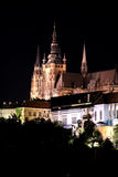 Praga nella notte Fotografia Stock