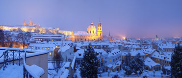 Praga no inverno Foto de Stock Royalty Free