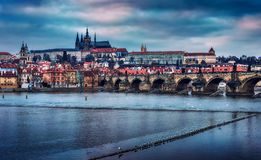 Praga no inverno - República Checa Imagem de Stock Royalty Free