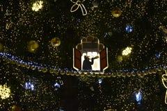 praga noite Mercados de Cristmas do centro da cidade imagem de stock