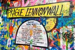 PRAGA - 8 novembre - parete di Praga Lennon, repubblica Ceca, Europa Fotografia Stock