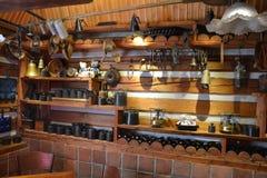 Praga - Novy Svet - interno del caffè U Raka Fotografia Stock