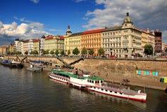 Praga od Vltava rzeki Fotografia Stock