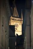 Praga. Opinión de la noche Imágenes de archivo libres de regalías
