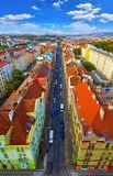 Praga, opinión de top de la República Checa en la avenida fotografía de archivo