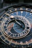 Praga. Orloj del ½ del skà del ¾ de PraÅ Imagen de archivo