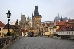 Praga - osservi dal ponticello del Charles immagine stock libera da diritti