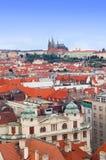 Praga panorama od Rathaus Zdjęcia Stock