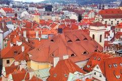 Praga panorama od Rathaus Obraz Royalty Free