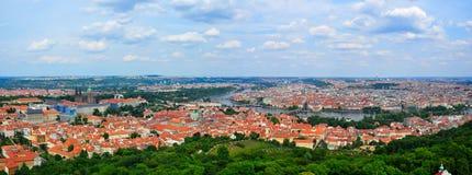 Praga panorama, republika czech Zdjęcia Stock