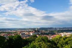 Praga panorama z St Vitus Praga i katedry kasztelem Obrazy Royalty Free