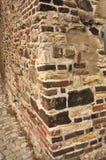 Praga, pared superior del ladrillo del castillo del castillo Para el fondo Foto de archivo libre de regalías