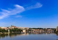 Praga pejzaż miejski Obrazy Royalty Free