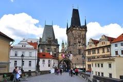Praga, ponticello del Charles Fotografia Stock Libera da Diritti