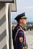 Praga, protector del castillo Foto de archivo