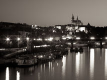 Praga przy nocą Obraz Royalty Free