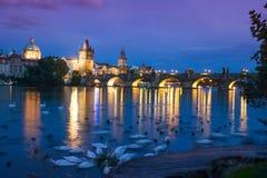 Praga, puente de Charles Fotos de archivo libres de regalías