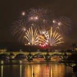 Praga, puente de Charles Imágenes de archivo libres de regalías