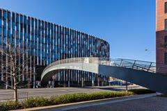 Praga, questione principale Karlin dell'edificio per uffici Fotografia Stock