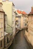 Praga. Río de Chertovka Foto de archivo libre de regalías