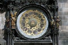 Praga - reloj astronómico histórico Fotos de archivo libres de regalías