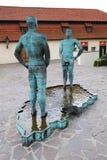 PRAGA, REPÚBLICA CHECA - 28 DE AGOSTO DE 2011: Fonte no formulário o Fotografia de Stock