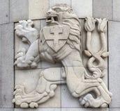 PRAGA, REPÚBLICA CHECA - 22 DE DICIEMBRE DE 2015: Foto del emblema de la república checoslovaco Fotos de archivo