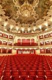 PRAGA, REPÚBLICA CHECA - 21 DE DICIEMBRE DE 2016: La ópera del estado Fotos de archivo libres de regalías
