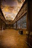 PRAGA, REPÚBLICA CHECA - 20 DE FEVEREIRO DE 2013: A biblioteca da teologia imagem de stock royalty free