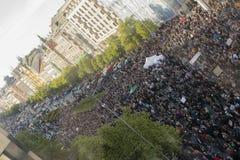 PRAGA, REPÚBLICA CHECA - 15 DE MAIO DE 2017: Demonstração no quadrado de Praga Wenceslas contra o governo e o Babis atuais Fotografia de Stock Royalty Free