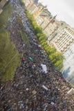 PRAGA, REPÚBLICA CHECA - 15 DE MAIO DE 2017: Demonstração no quadrado de Praga Wenceslas contra o governo e o Babis atuais Foto de Stock Royalty Free