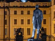 PRAGA, REPÚBLICA CHECA - 11 DE OCTUBRE DE 2018: El primer presidente de Checoslovaquia - Tomas Garrigue Masayk, alias TGM imagen de archivo libre de regalías
