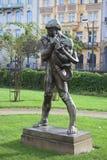 PRAGA, REPÚBLICA CHECA 5 DE SEPTIEMBRE DE 2015: Foto del escultor Ladislav Shalouna fotografía de archivo libre de regalías