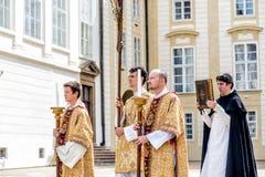 PRAGA, REPÚBLICA CHECA - 4 DE SEPTIEMBRE DE 2016: Procesión en el re-en Imagen de archivo