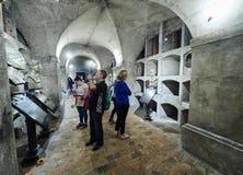 PRAGA, REPÚBLICA CHECA - 4 DE SEPTIEMBRE DE 2017 St Cyril y cripta de Methodius - monumento del terror de Heydrich, Praga, Repúbl fotos de archivo