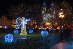 PRAGA, REPÚBLICA CHECA - DICIEMBRE, 25: Día de fiesta Imágenes de archivo libres de regalías