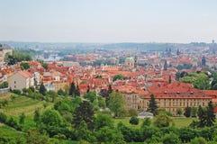 praga República Checa, paisaje urbano, vieja opinión de la ciudad Fotografía de archivo