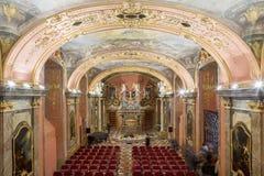 PRAGA, REPUBBLICA CECA - 12 dicembre: Clementinum, cappella dello specchio praga Fotografia Stock