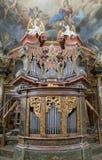 PRAGA, REPUBBLICA CECA - 12 dicembre: Clementinum, screpolatura dello specchio Fotografie Stock Libere da Diritti