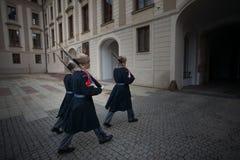 PRAGA, REPUBBLICA CECA - 18 FEBBRAIO 2013: Cambiamento del guar fotografie stock libere da diritti