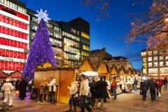 PRAGA, REPUBBLICA CECA 5 GENNAIO 2013: Mercato di Natale di Praga Immagini Stock