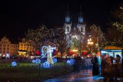 PRAGA, REPUBBLICA CECA - IL 25 DICEMBRE: Festa Fotografie Stock
