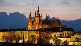 Praga, repubblica Ceca La cattedrale metropolitana dei san Vitus Fotografie Stock