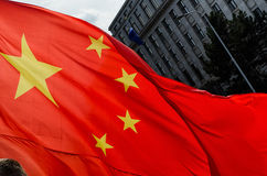 Praga, repubblica Ceca - marzo, ventottesimo del 2016: Presidente cinese Xi Fotografia Stock Libera da Diritti