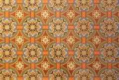 PRAGA, REPUBBLICA CECA - 17 OTTOBRE 2018: Il dettaglio della decorazione in chiesa Svatého Cyrila Metodeje fotografia stock libera da diritti