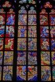 PRAGA, REPUBBLICA CECA - 12 possono, 2017: Il bello interno della st Vitus Cathedral a Praga, repubblica Ceca Fotografia Stock Libera da Diritti