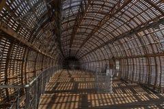 Praga, repubblica Ceca - 10 settembre 2019: DOX, galleria di Praga di arte contemporanea, interno del dirigibile di Guliver fotografie stock